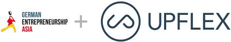 Logos of Upflex & German Entrepreneurship Asia